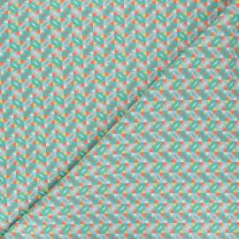 Tissu coton Petit Pan Sunset - vert x 10cm