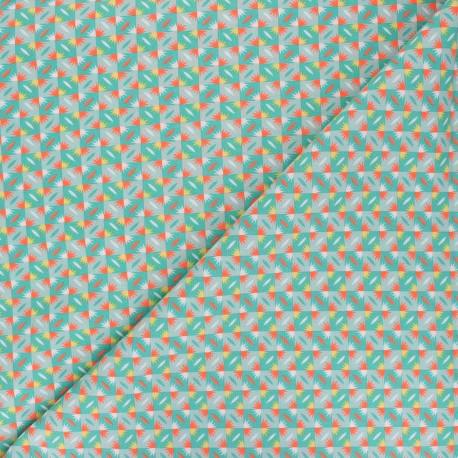 Petit Pan cotton fabric - green Sunset x 10cm