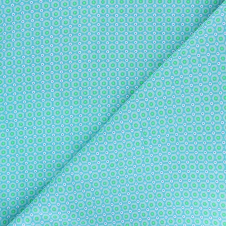 Petit Pan cotton fabric - blue Mikko x 10cm