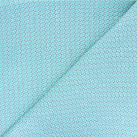 Tissu coton Petit Pan Mulino - bleu x 10cm