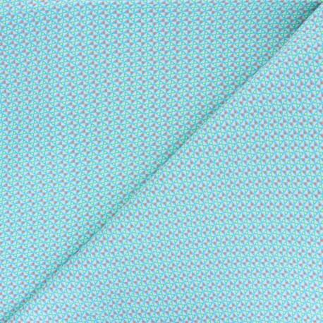 Petit Pan cotton fabric - blue Mulino x 10cm