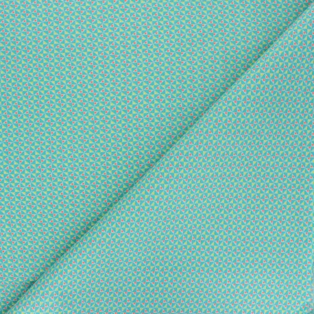 Petit Pan cotton fabric - green Mulino x 10cm
