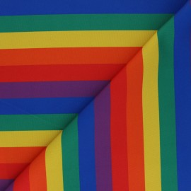 Polyester mask fabric - multicolor Arc-en-ciel x 10cm