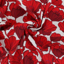 Viscose Crêpe Fabric - red Siriana x 10cm