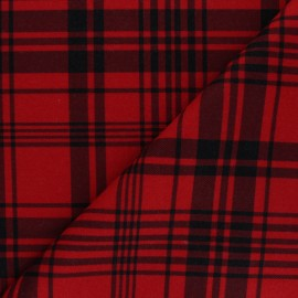 Light coat sheet fabric - red Amsterdam x 10cm