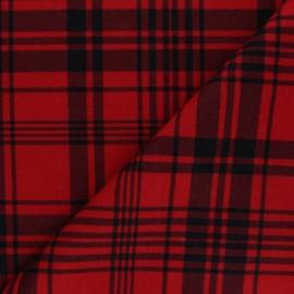 Tissu drap manteau léger Amsterdam - Rouge x 10cm