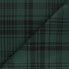 Tissu drap manteau léger Amsterdam - Vert x 10cm