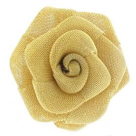 Bouton Rose métallisée dorée