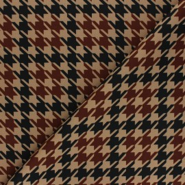 Tissu Jersey Milano Pied-de-poule - sable x 10cm
