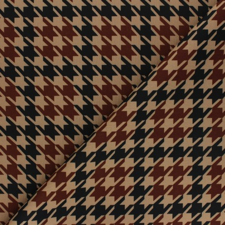 Milano jersey fabric - sand Pied-de-poule x 10cm
