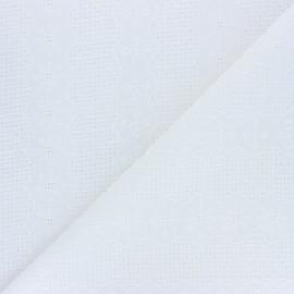 Tissu Voile de coton broderie anglaise Hailey - écru x 10cm