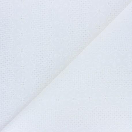 Openwork cotton voile fabric - raw Hailey x 10cm