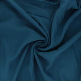 Tissu sergé de viscose Uni - vert paon x 10cm