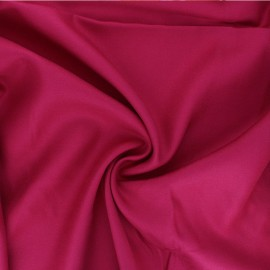 Plain viscose twill fabric - grenadine pink x 10cm