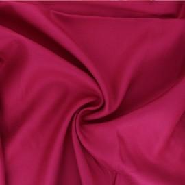 Plain viscose twill fabric - grenadine pink x 10cm