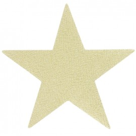 Star iron-on applique - golden