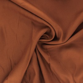 Plain viscose twill fabric - caramel x 10cm