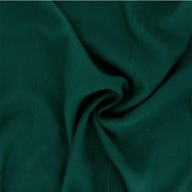 Plain viscose twill fabric - pine green x 10cm