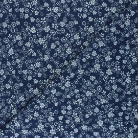 Fluid jeans fabric - Navy Blue Amari x 10cm