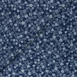 Tissu Jeans fluide Amari - Bleu marine x 10cm
