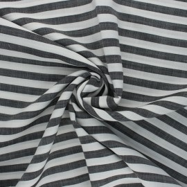 Tencel fabric - black/white Stripes x 10cm