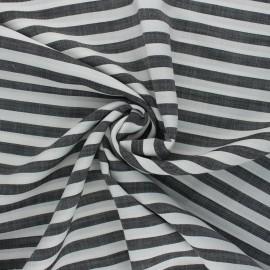 Tencel fabric - black/white Stripes x 10cm