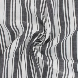Tencel fabric - black/white Rayures x 10cm