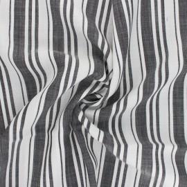 Tissu Tencel Rayures - noir/blanc x 10cm