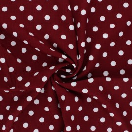 Rayon fabric - garnet Dots x 10cm