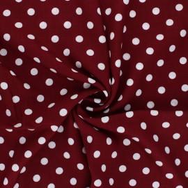 Tissu rayonne Dots - grenat x 10cm