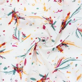 Tissu lyocell Tencel sergé Ara - rouge x 10cm