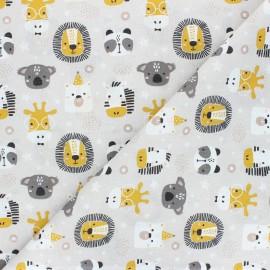 Cretonne cotton fabric - beige Polisson x 10cm