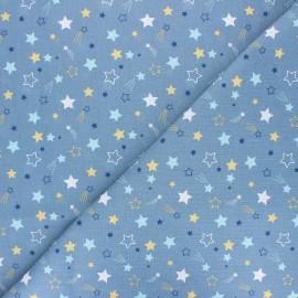 Cretonne cotton fabric - blue Celeste x 10cm