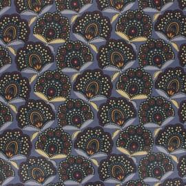 Tissu coton cretonne enduit Massa - gris x 10cm