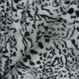 Fur fabric - grey Félin x 10cm