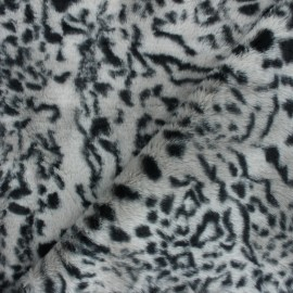 Tissu Fourrure Félin - gris x 10cm