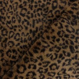 Fur fabric - brown Panthera x 10cm