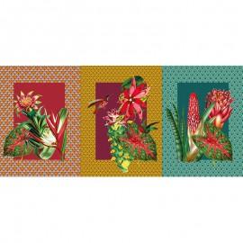 Tissu toile de coton panneau - Luxuriance x 72 cm