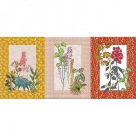 Tissu toile de coton panneau - Botanique x 72 cm