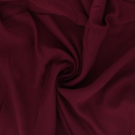 Plain viscose crepe fabric - burgundy x 10cm