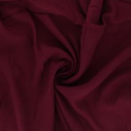 Plain viscose crepe fabric - burgundy x 10cm