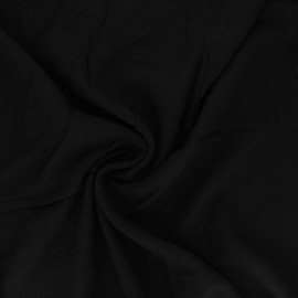 Plain viscose crepe fabric - black x 10cm