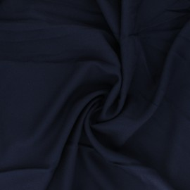 Plain viscose crepe fabric - navy blue x 10cm