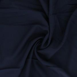 Tissu crêpe de viscose uni - bleu marine x 10cm