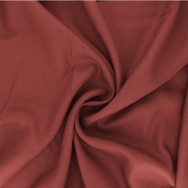 Plain viscose crepe fabric - terracotta x 10cm
