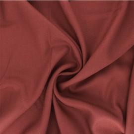 Plain viscose crepe fabric - terracotta x 10cm