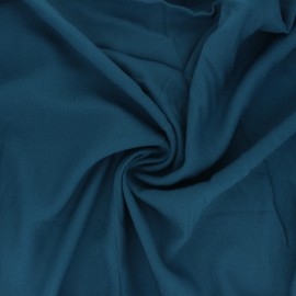 Plain viscose crepe fabric - blue x 10cm