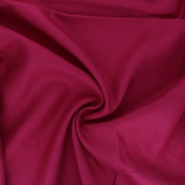 Plain viscose crepe fabric - raspberry pink x 10cm