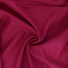 Plain viscose crepe fabric - raspberry pink x 10cm