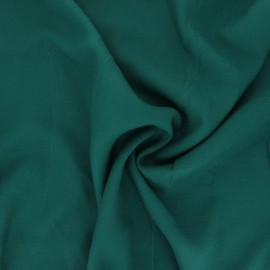 Tissu crêpe de viscose uni - vert émeraude x 10cm